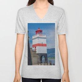 Brockton Point Lighthouse Unisex V-Neck