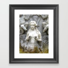 Fountain Sculpture Photography Framed Art Print