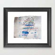 stitched footprint Framed Art Print