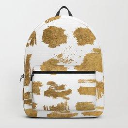 Elegant modern chic gold artsy brushstrokes Backpack