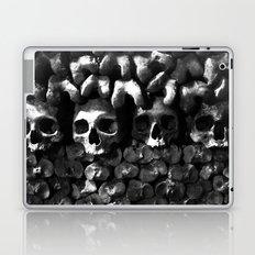 Skulls - Paris Catacombs, black and white version Laptop & iPad Skin