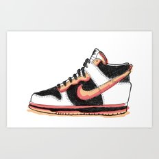 Dunk Hight sneakers Art Print