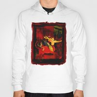boxing Hoodies featuring Boxing Sagittarius by Genco Demirer