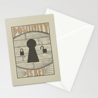 Positivity Is Key v.2 Stationery Cards