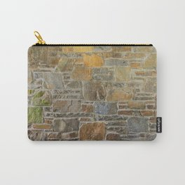 Avondale Brown Stone Wall and Mortar Texture Photograph Carry-All Pouch