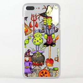 Halloween creatures Clear iPhone Case