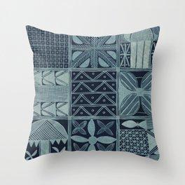 African cloth Throw Pillow