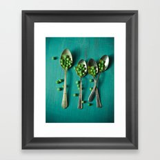 Peas Please Framed Art Print