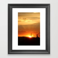 Sunset in Big Sky Country Framed Art Print