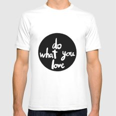 Do what you love MEDIUM White Mens Fitted Tee