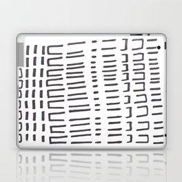 Ancient Tribal Marking Patterns Hand Drawn Pattern Symbols Shapes Black And White Laptop & iPad Skin