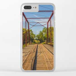 Stephens Bridge, North Dakota, 8 Clear iPhone Case