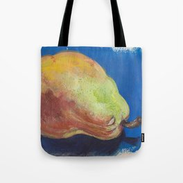 Pear in Mixed Media Tote Bag