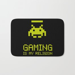 Gaming is my religion Bath Mat