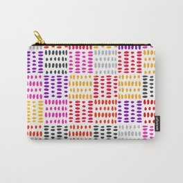 bright pattern of pink, yelow and purpe no 4 Carry-All Pouch