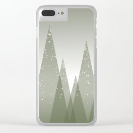 Green Abstract Forest Clear iPhone Case