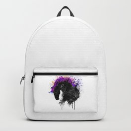 Horse Head Watercolor Silhouette Backpack