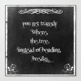 Typography: Inspirational Quote on Wisdom Canvas Print