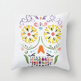 Calavera de Azucar Throw Pillow