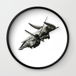 Exposed Existence Charcoal Study 4 Wall Clock