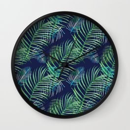 Palms in the night Wall Clock