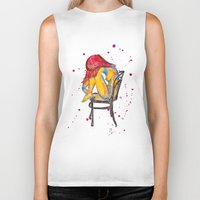 selena gomez Biker Tanks featuring selena by Laurie Art Gallery