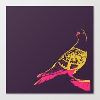 pigeon Canvas Prints featuring pigeon by toby.garrow