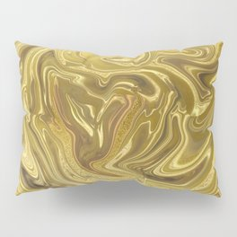 Rich Gold Shimmering Glamorous Luxury Marble Pillow Sham