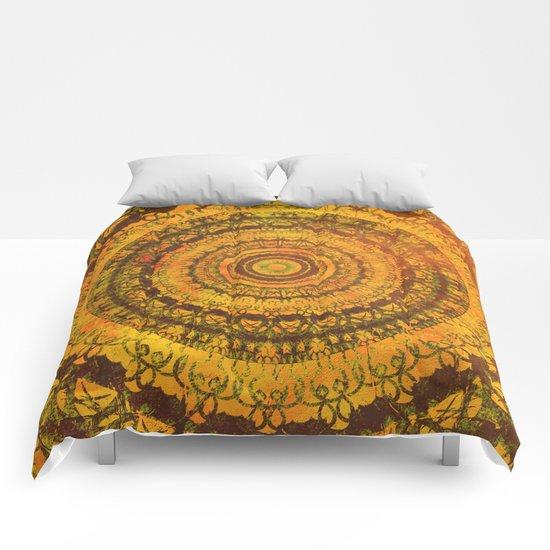 Sun Mandala 5 Comforters