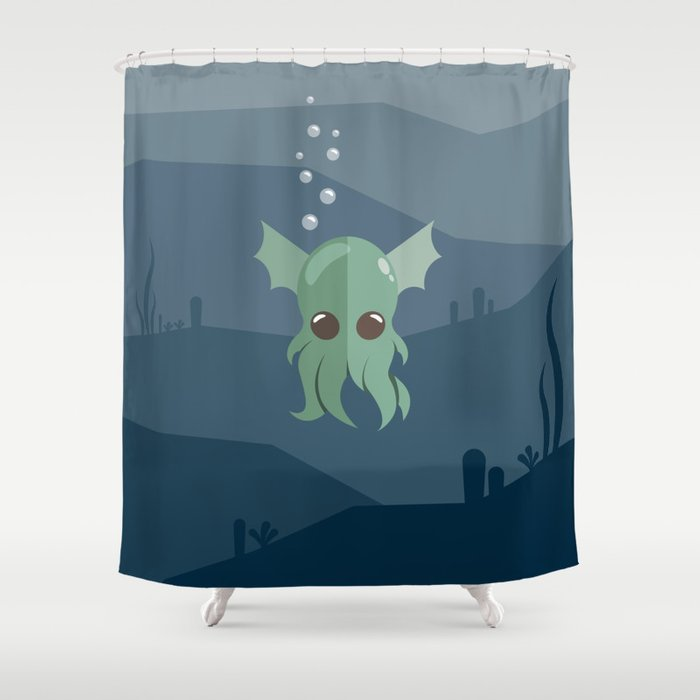 Cthulhu Shower Curtain By Slugbunny