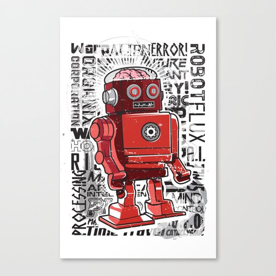 Robot Flux Canvas Print