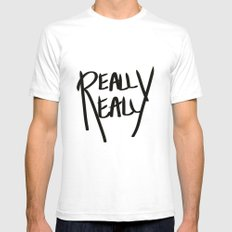 Really, Really SMALL White Mens Fitted Tee