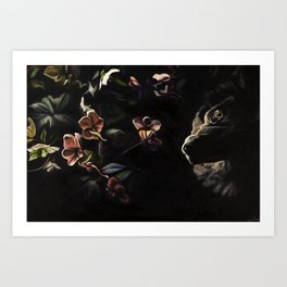 Nea and Hellebores Art Print