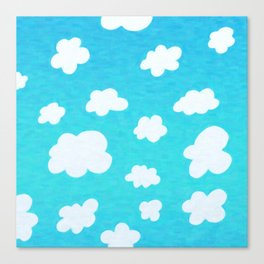 Happy Little Clouds Canvas Print