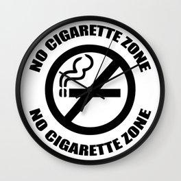 Anti-Cigarette Wall Clock
