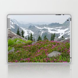 THE LAST OF SUMMER'S SNOW FROM KULSHAN RIDGE Laptop & iPad Skin