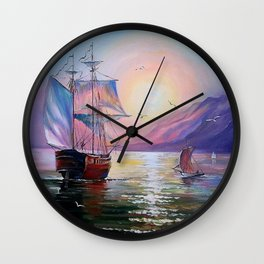 Returning to her native bay Wall Clock
