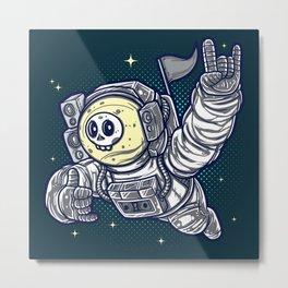 Too Cool Groove Astronaut to the Stars Metal Print