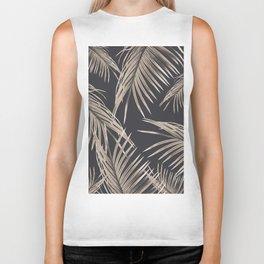 Sepia Palm Leaves Dream #1 #tropical #decor #art #society6 Biker Tank