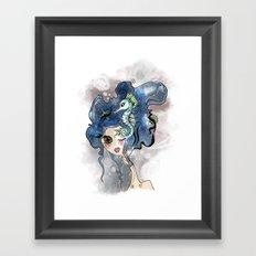the deep girl-1 Framed Art Print