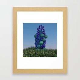Bubbleflower Framed Art Print