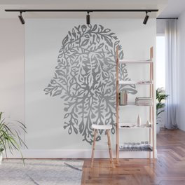 Botanical hamsa Wall Mural