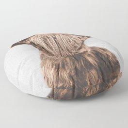 Highland Calf - Colorful Floor Pillow