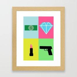 Girls a straight up hustler Framed Art Print