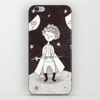 le petit prince iPhone & iPod Skins featuring Le petit prince by nu boniglio