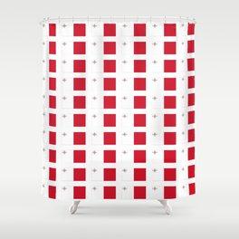 flag of Malta-maltese,maltes,malti,valletta,birkirkara,mosta,Gozo,mediterranenan Shower Curtain