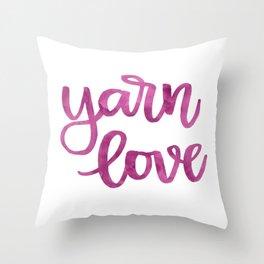 Yarn Love - Fuchsia Throw Pillow