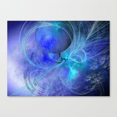 CREATING BLUE PLANETS Canvas Print