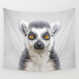 Lemur 2 - Colorful Wall Tapestry