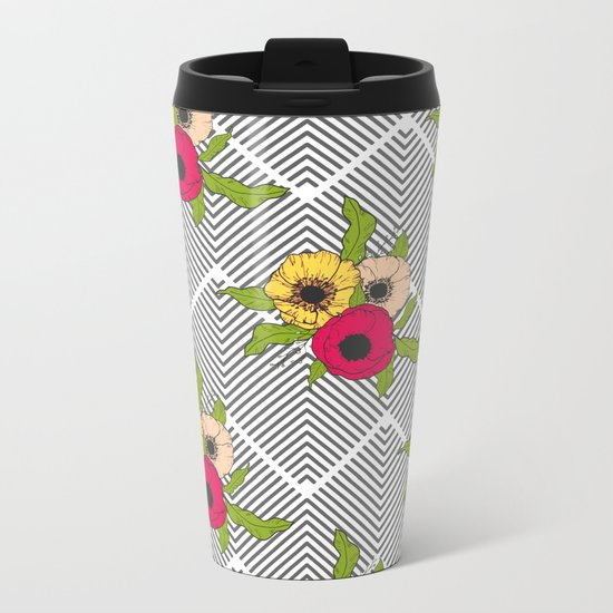 Geometric Garden #society6 #decor #buyart Metal Travel Mug